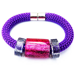 Wrist Candy Pink on Purple