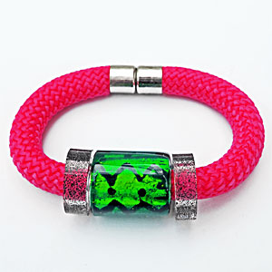 Wrist Candy Green on Red