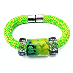 Wrist Candy Lime with Black