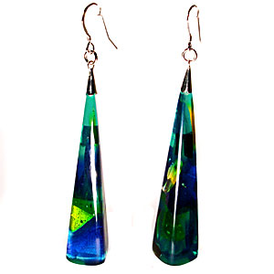 Large Pyramid Earrings